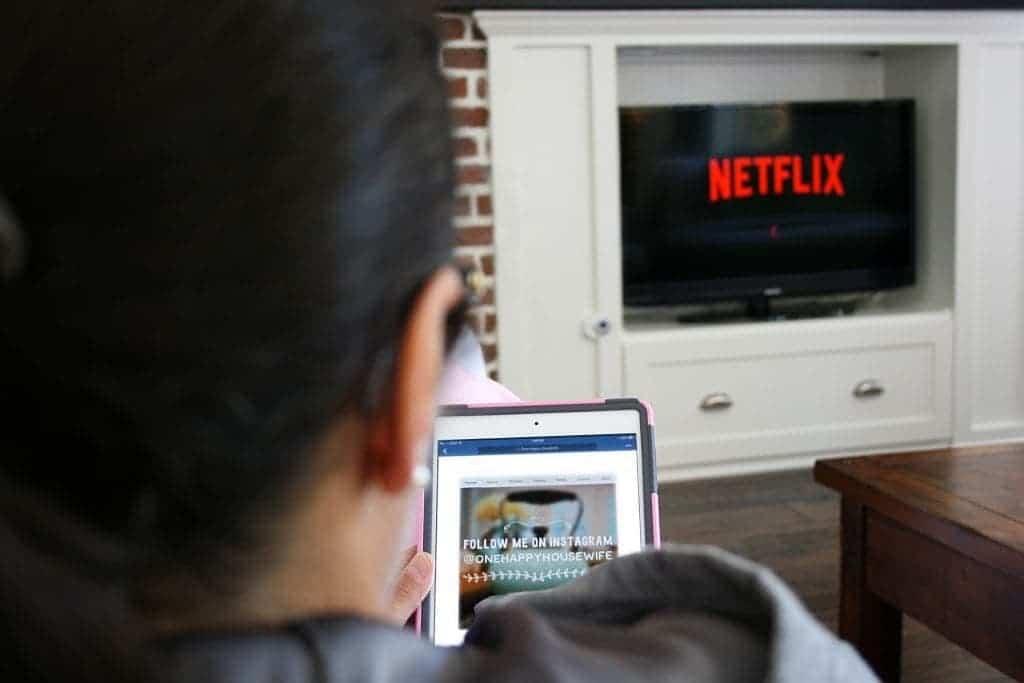 Watching Facebook and Netflix