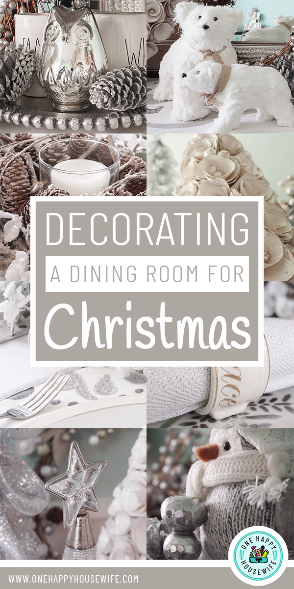 Decorating A Dining Room For Christmas One Happy Housewife