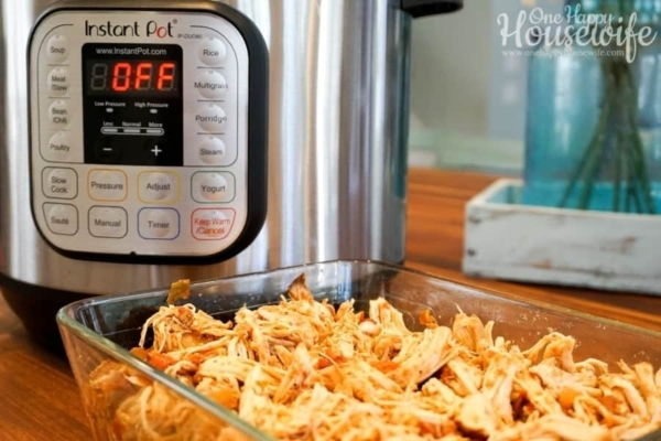 Cooked and Shredded Chicken for Tacos Made In The Instant Pot Pressure Cooker