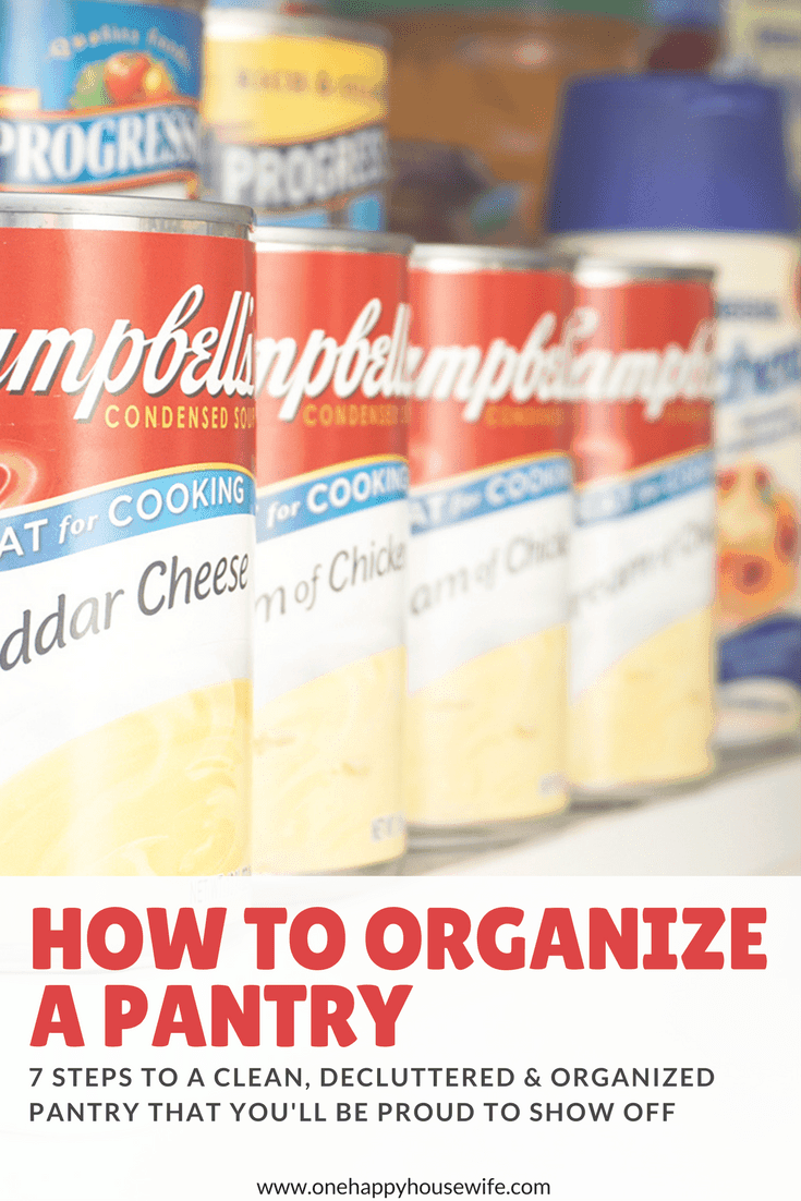7 Steps to a Clean, Decluttered & Organized Pantry That You'll Be Proud to Show Off