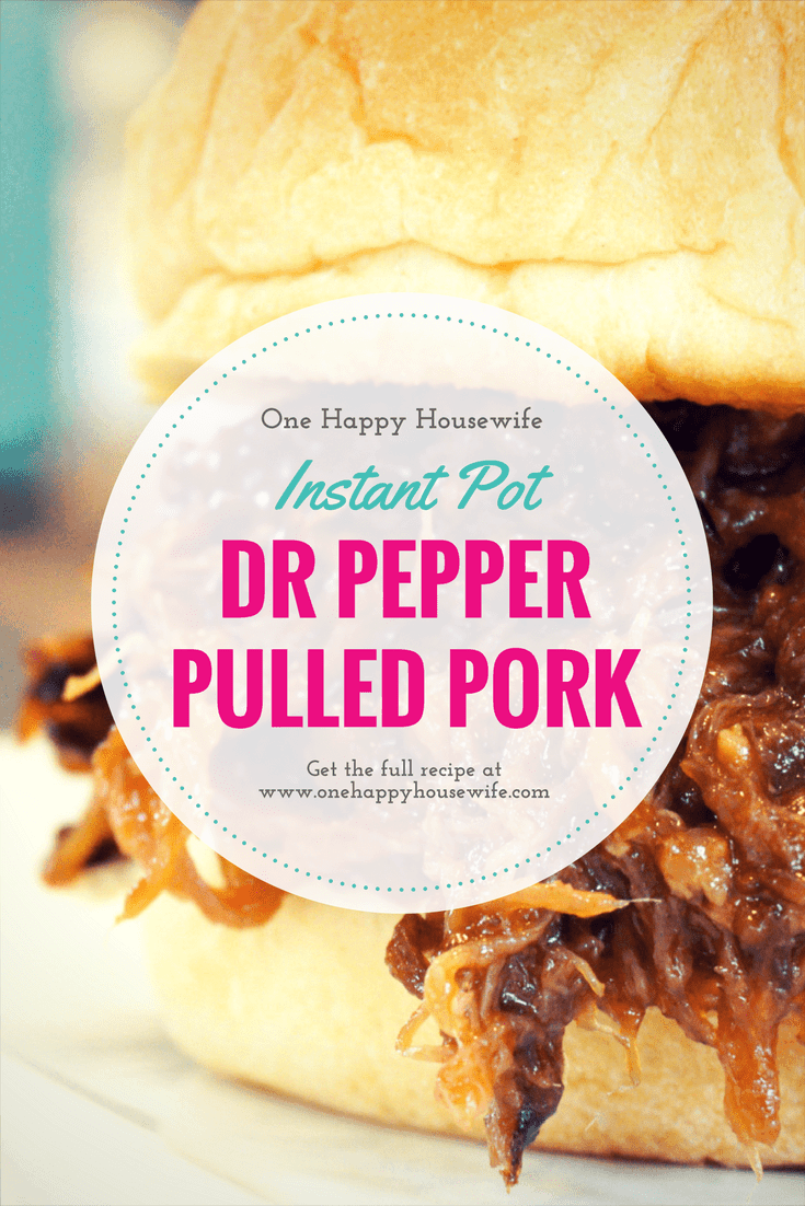 This Dr. Pepper pulled pork will leave everyone raving! So easy, and so delicious! Instant Pot perfection!