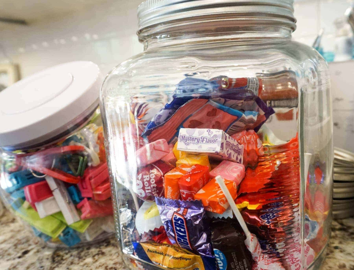 Pantry Storage Idea For Candy