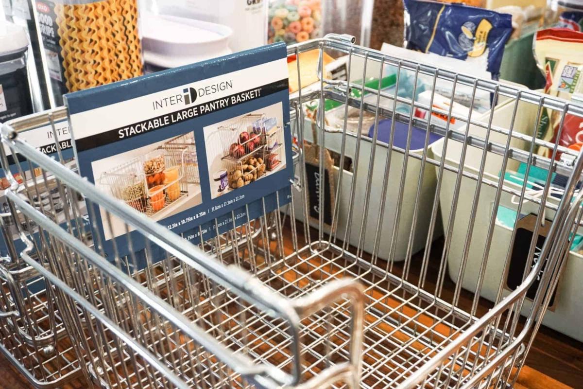 Pantry Stacking Wire Basket Storage