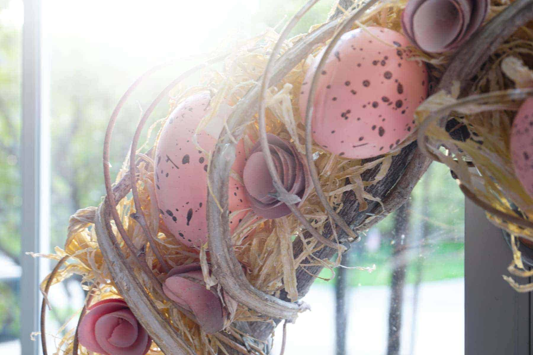 Spring Decorating With Colored Egg Wreath
