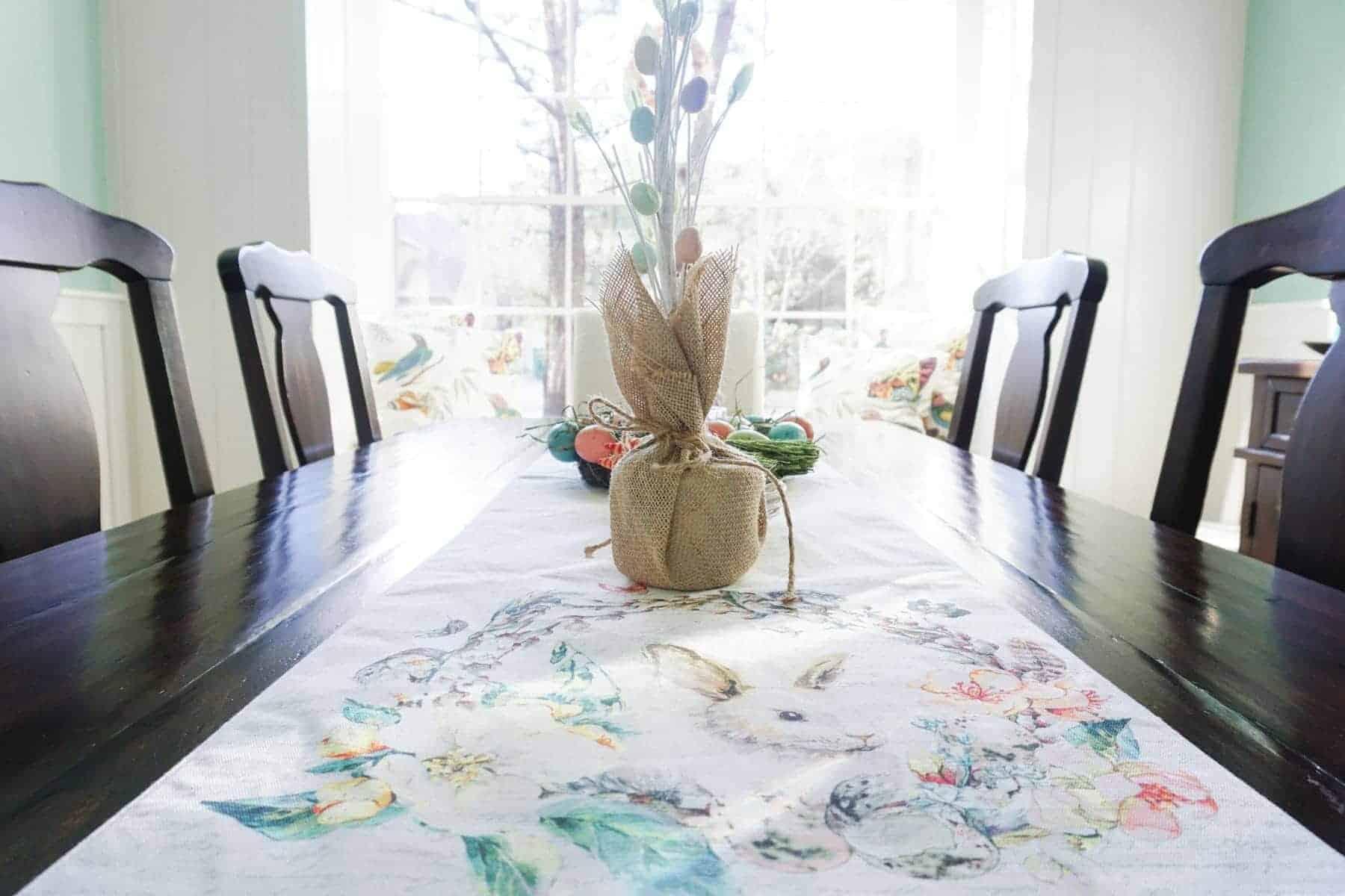 Eater Bunny Runner on Dining Table