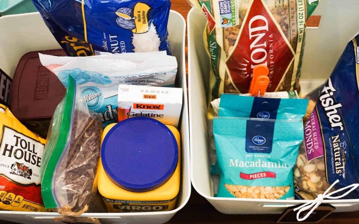 Sorting Pantry Items