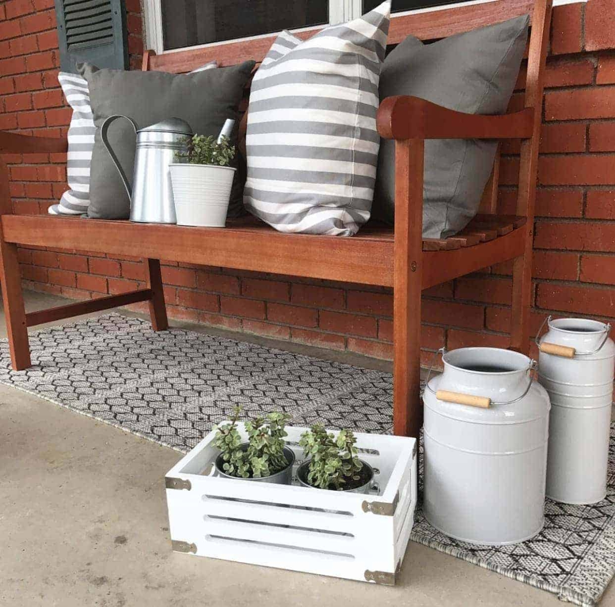 Decorating On A Budget - Front Porch Makeover