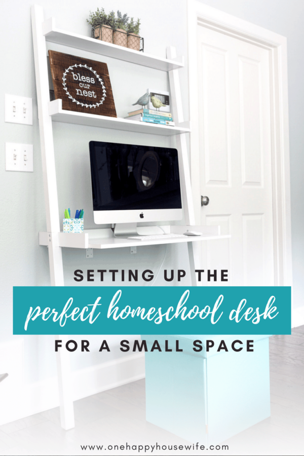 Homeschool Desk for Small Spaces