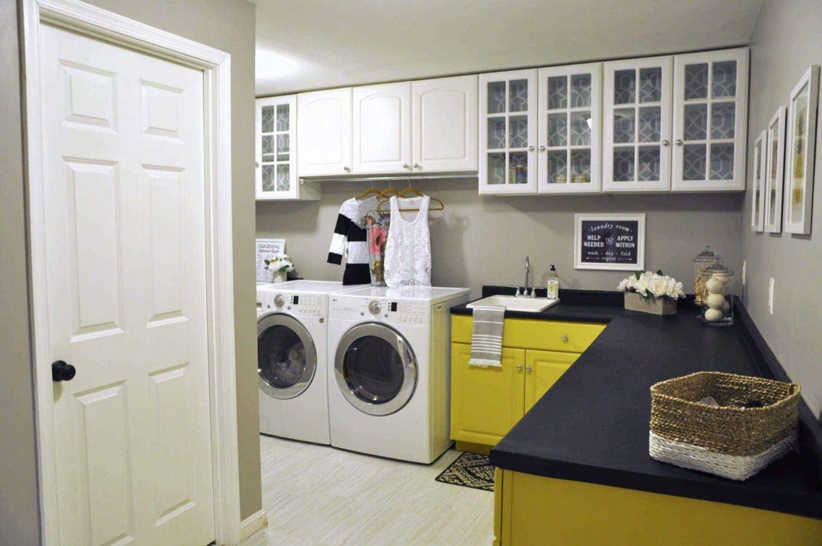 Laundry Room Makeover Decorate On A Budget