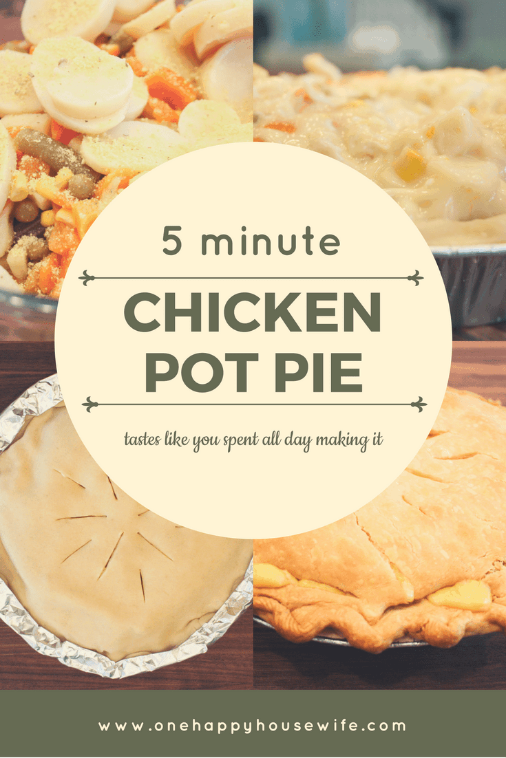 An easy and delicious chicken pot pie that you can prepare in no time!