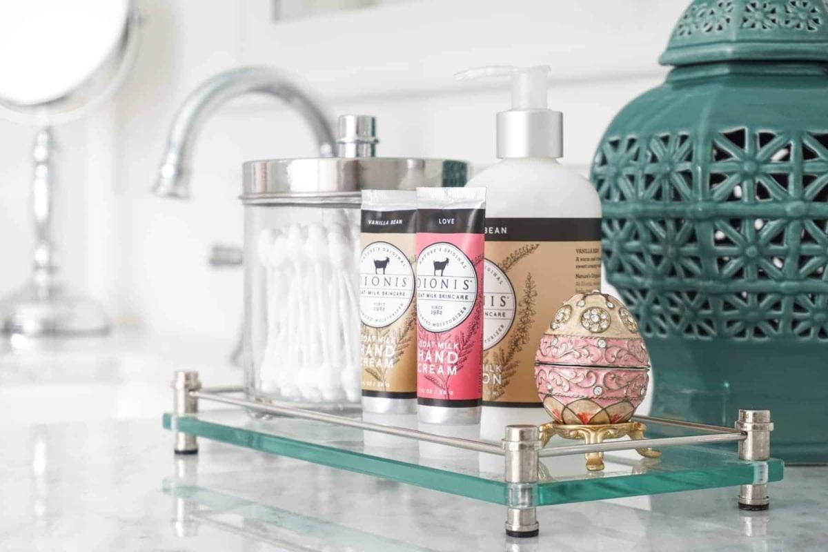 Tray keeping bathroom countertops clean