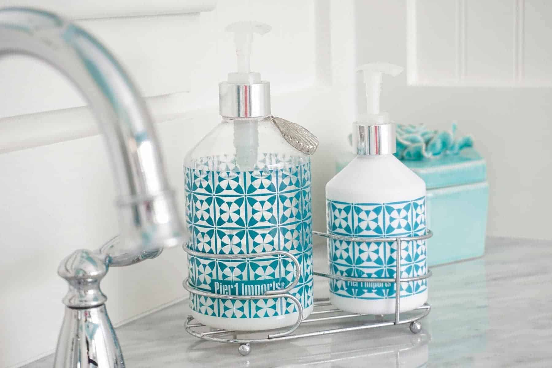 Use liquid soap instead of bar soap