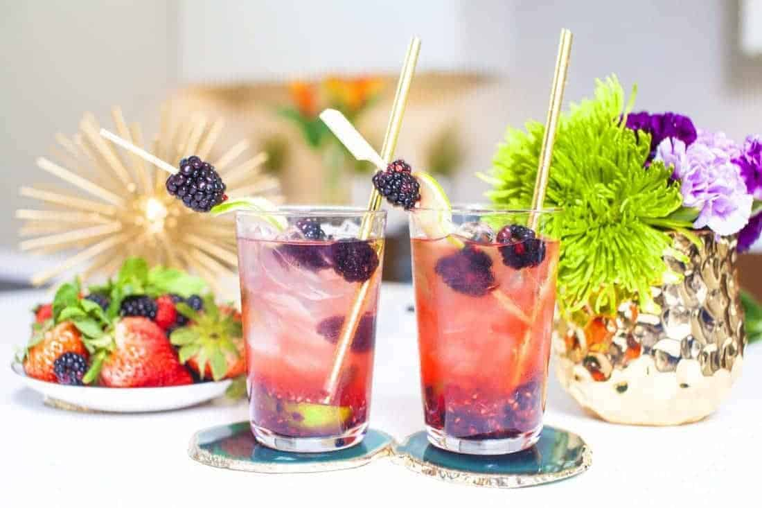 This blackberry mojito is a non-alcohol version of a refreshing summer drink