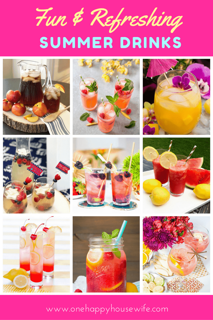 Beat the summer heat with this collection of fun, refreshing and tasty drink recipes.