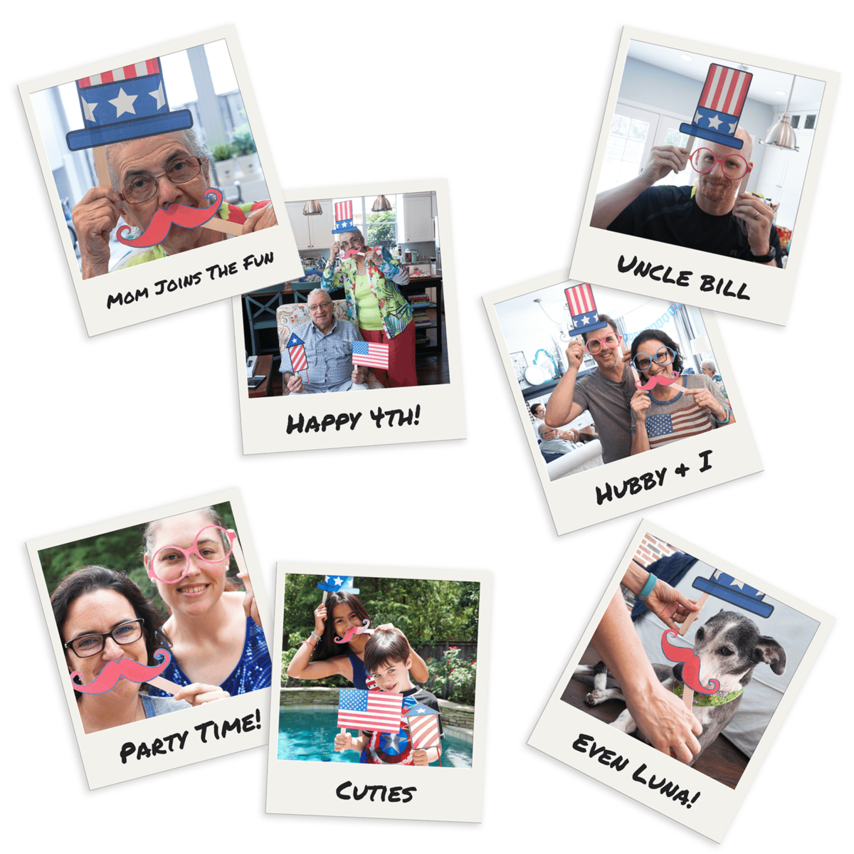 Have a blast at your 4th of July celebration with these free photo booth printables.