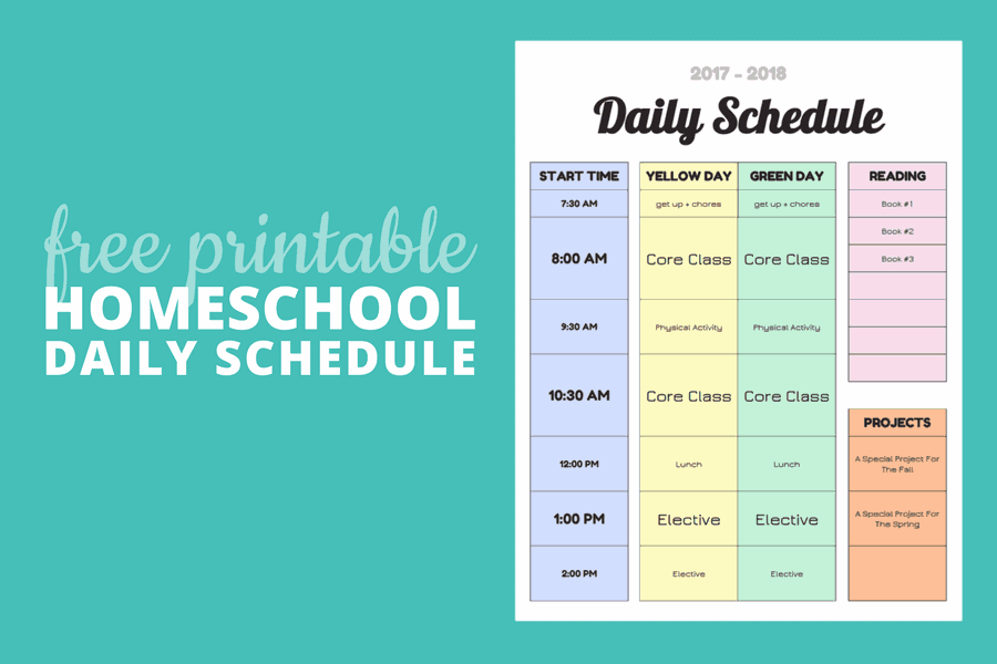 Simplicity image with regard to homeschool daily schedule printable
