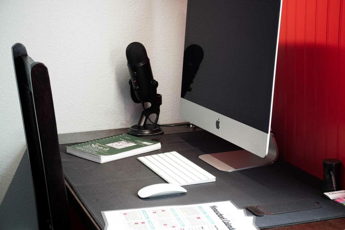Homeschool Desk Setup