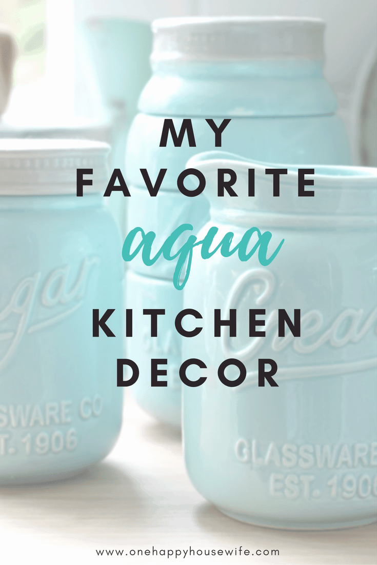 A Little Aqua Kitchen Inspiration