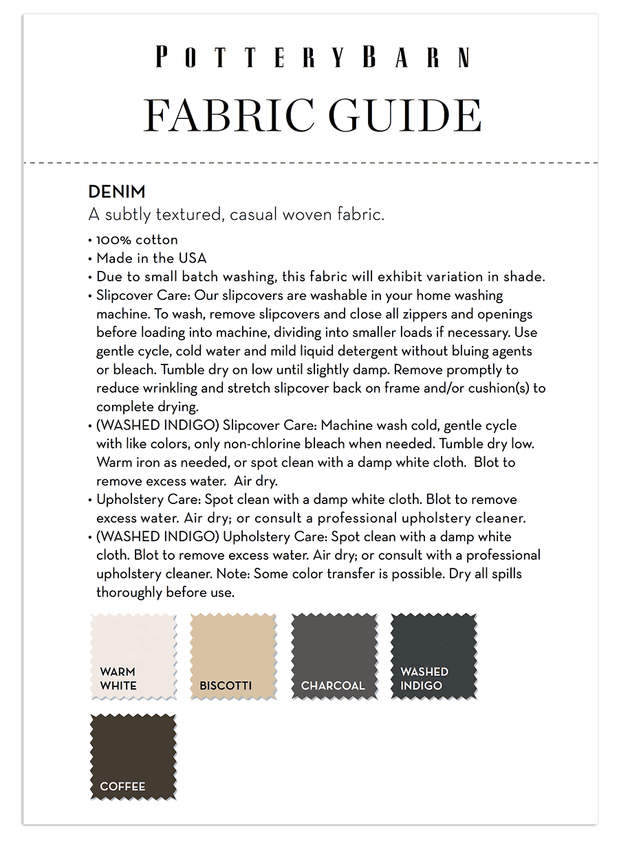 Pottery Barn Fabric Guide