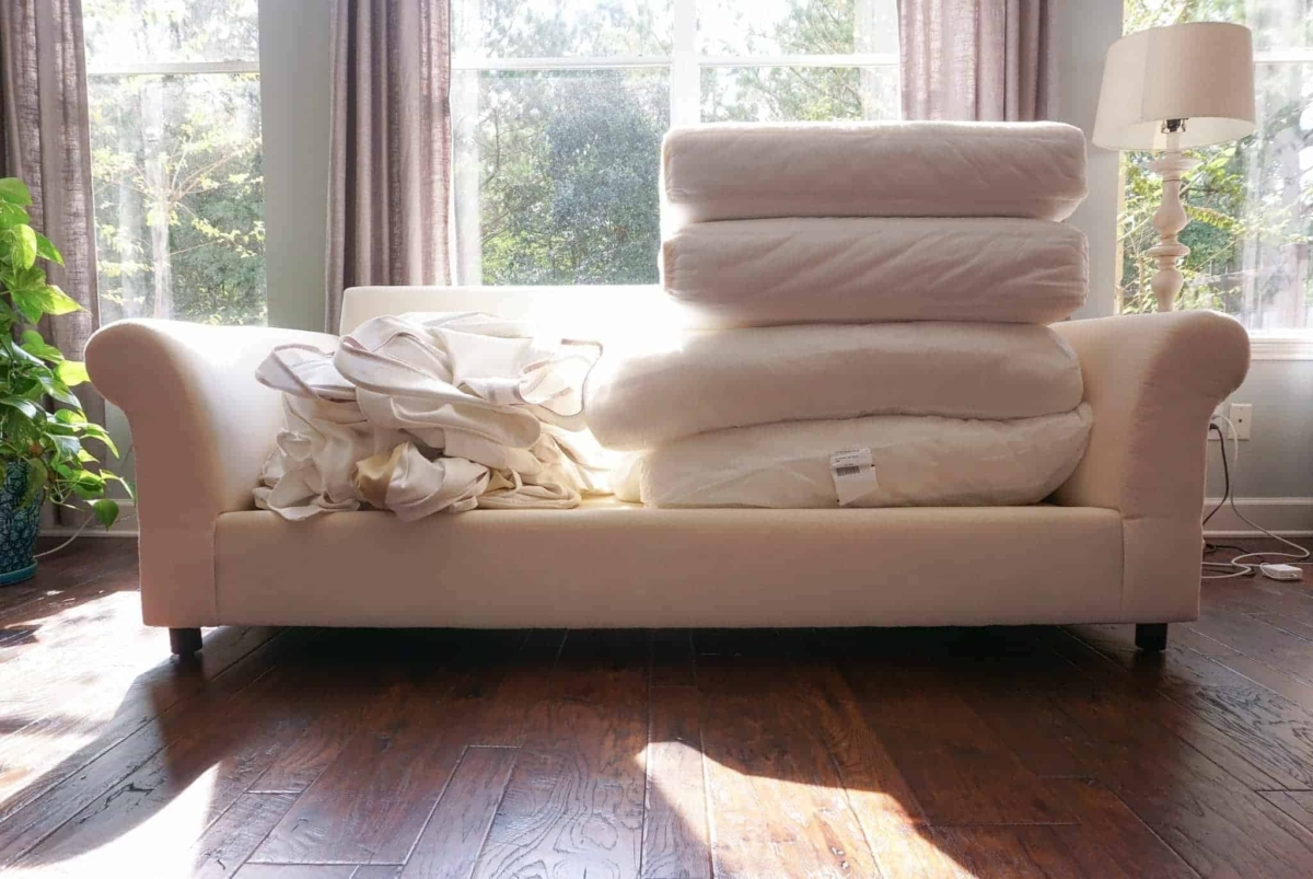 Sectional sofa removable cover