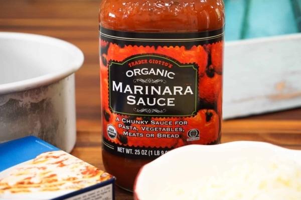 making instant pot lasagna with trader joes marinara sauce