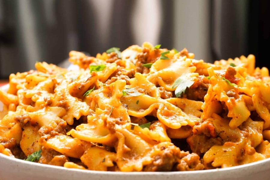 quick and easy pasta made in the instant pot