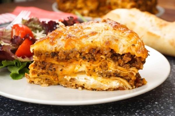 rich creamy meat lasagna instant pot