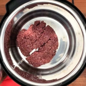 cooking ground sirloin in the instant pot