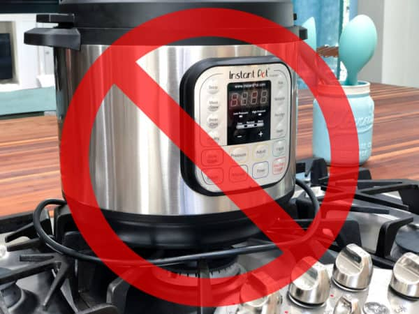 an instant pot placed on the stove