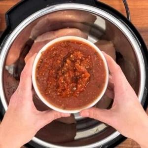 best salsa for instant pot salsa chicken