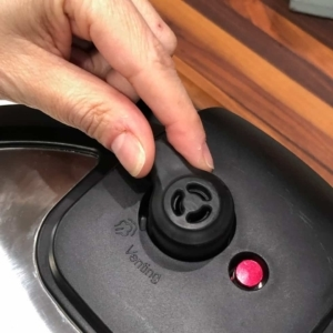 set the instant pot valve to sealing