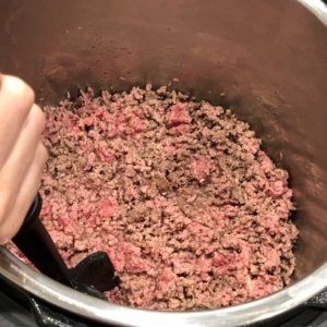 sauteing ground sirloin in an electric pressure cooker