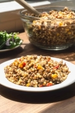 how to make couscous with ground beef in the instant pot