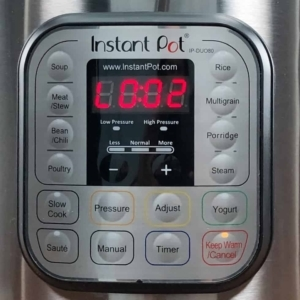 performing a natural pressure release in the instant pot