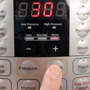 adjusting the saute heat level to more on the instant pot